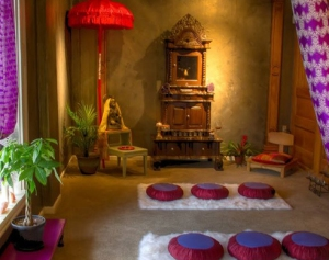 Indian influenced meditation space