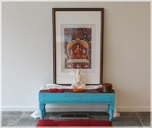 You can have an altar with a religious theme, or non-religious. Place nothing but a candle on your altar. But whatever you do, sit your butt down and meditate! It will change your life.
