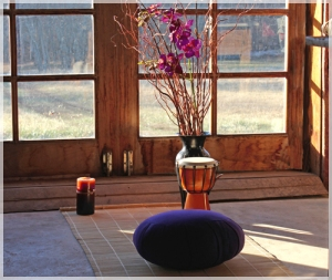 Choosing the right cushion makes a lot of difference in wanting to continue with your meditation.