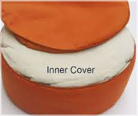 A zippered outer cover makes it easier to replace worn or stained material