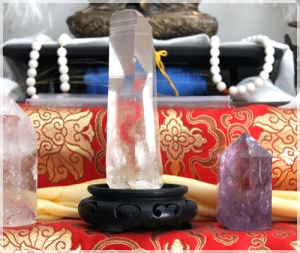 Little crystals on an altar