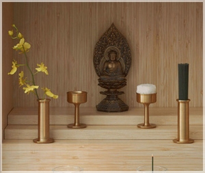 Non-traditional Japanese Buddhist altar.